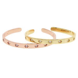 northstar starburst engraved matal wide band open cuff bangle fashion christmas gift european women jewelry