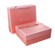 Pink romance paper gift box can hold jewelry, lipstick, dolls and flower with paper bag