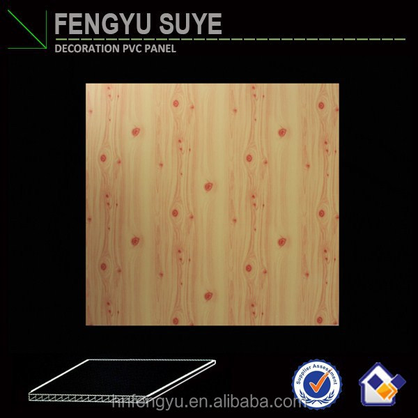 Haining commpettive price wood color indoor decorate pvc wall and ceiling panels wood designs