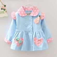 caa30017 baby clothes wholesale printed new style baby trench coat