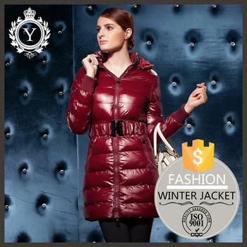 2016 Coutudi Italien Winter Frauen Oem Mode Benutzerdefinierte Wolle Glänzenden Langen Nylon Packable Daunenjacke Buy Packable