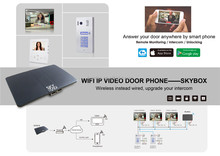 Two way intercom and remotely unlock door ip video intercom system
