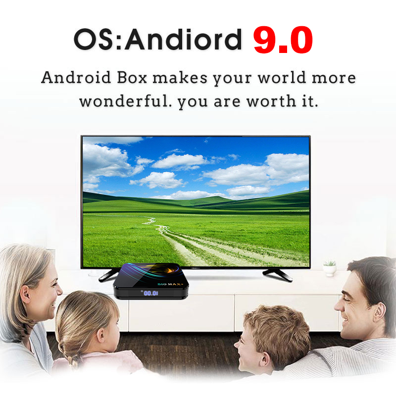 Newest Android 9.0 TV Box S10 Max Plus Amlogic S905X3 60FPS Smart Android TV Box