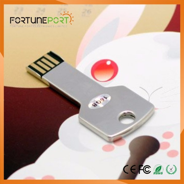 External Hard Disk Brand Name 100% Real Capacity OEM Custom Logo Metal USB Flash Drive for Xmas Gift