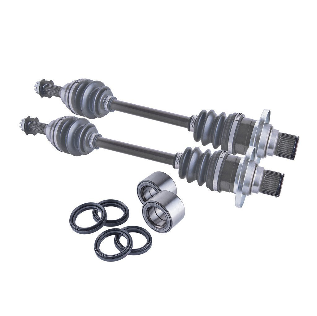Suzuki King Quad 450 / 500 / 700 / 750 rear cv axles, wheel bearings & seals set 2007 2008 2009 2010 2011 2012 2013 2014 2015 2016