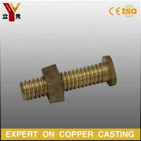 Custom brass / Bronze / copper alloy Hex Head flange bolt and nut / Fasteners