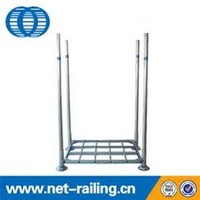 Collapsible stackable warehouse galvanized post pallet