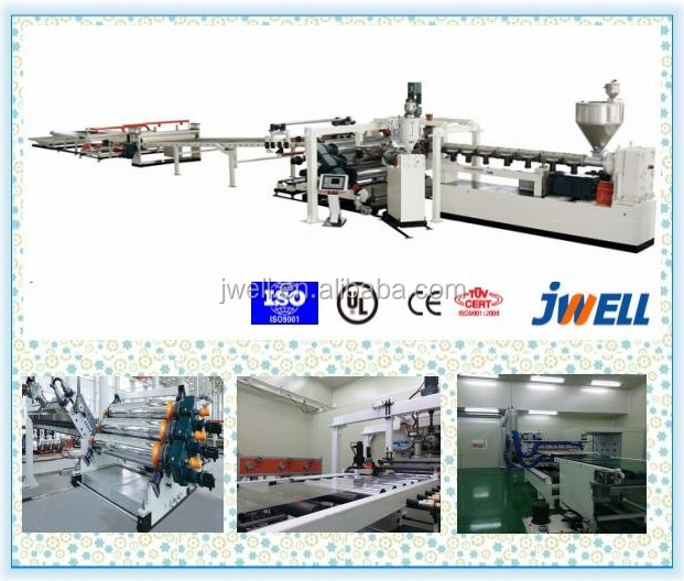 JWELL - Colored PC Lexan Sheet PC Solid Sheet Engineering Plastic sheet production line extruder