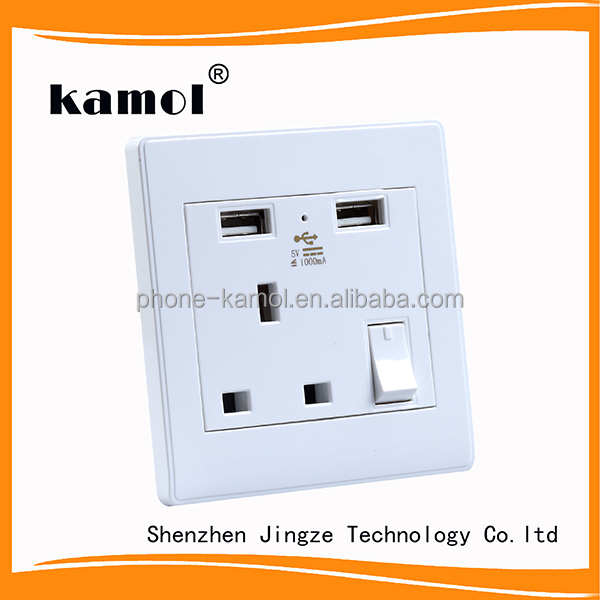 UK USB wall socket best selling products in England electrical outlet high quality
