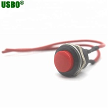 Merah Bulat <span class=keywords><strong>Tombol</strong></span> 3A 250 V 2 P <span class=keywords><strong>Auto</strong></span> Sesaat Kabel <span class=keywords><strong>Push</strong></span> Button Switch