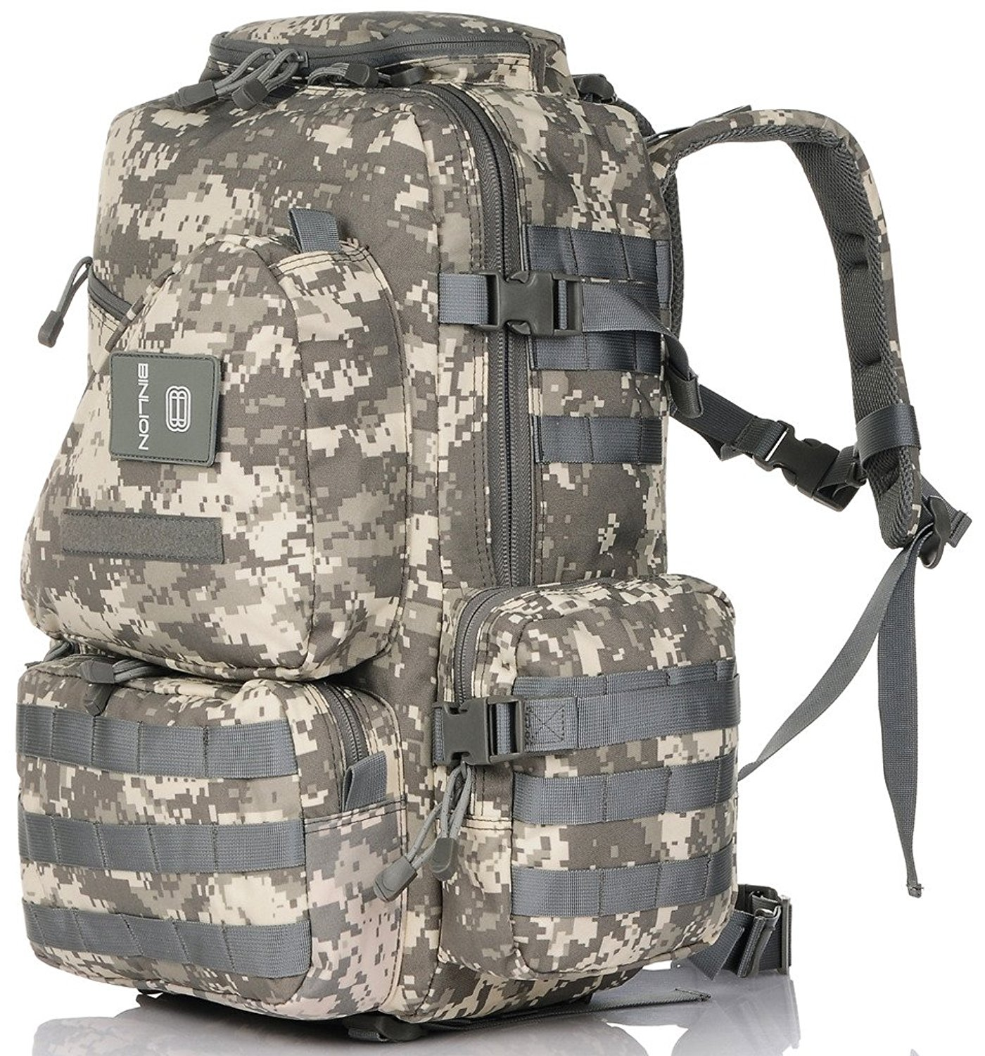 2dcb3510da Get Quotations · Binlion Camouflage Military Multipurpose Tactical Backpacks  Hiking backpacks and Casual backpacks and Running waist packs
