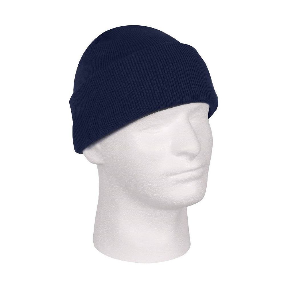 878285d886bbbb Get Quotations · Navy Blue Deluxe Military Tactical Watch Cap Beanie Knit  Stocking Hat