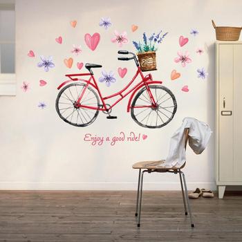 Living Room 3d Bike Wall Art Stickers - Buy Wall Art Stickers,Bike ...