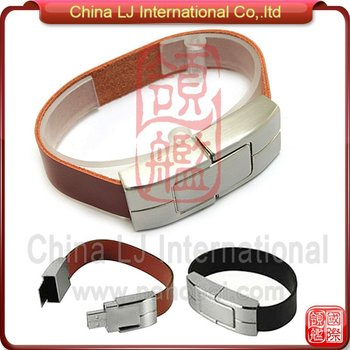 High-end Promotional Gifts Usb Stick Leather Wristband Usb Flash ...
