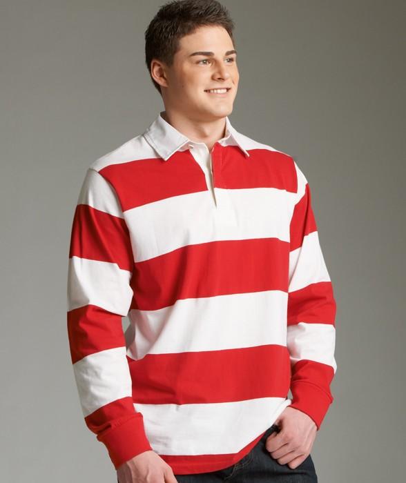 Uni Heavy Cotton Blank Polo Style Clic Rugby Shirt 4 Yarn Dyed