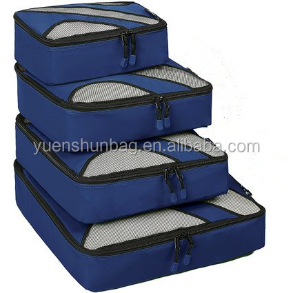 4 Set Travel Packing Cubes Luggage Packing Organizers with Laundry Bag