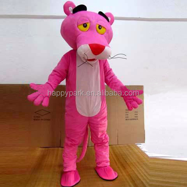 accept Paypal high quality plush mascot costumes for adults pink panther mascot costume