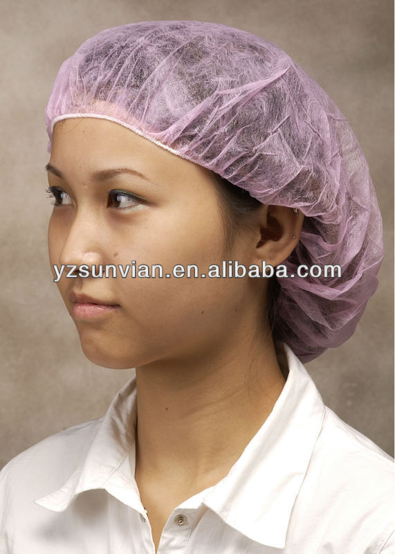 Disposable Medical non woven Mop Bouffant Cap with elastic band