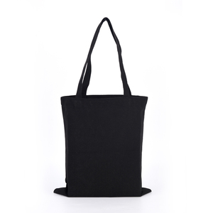 black cotton tote bag customized