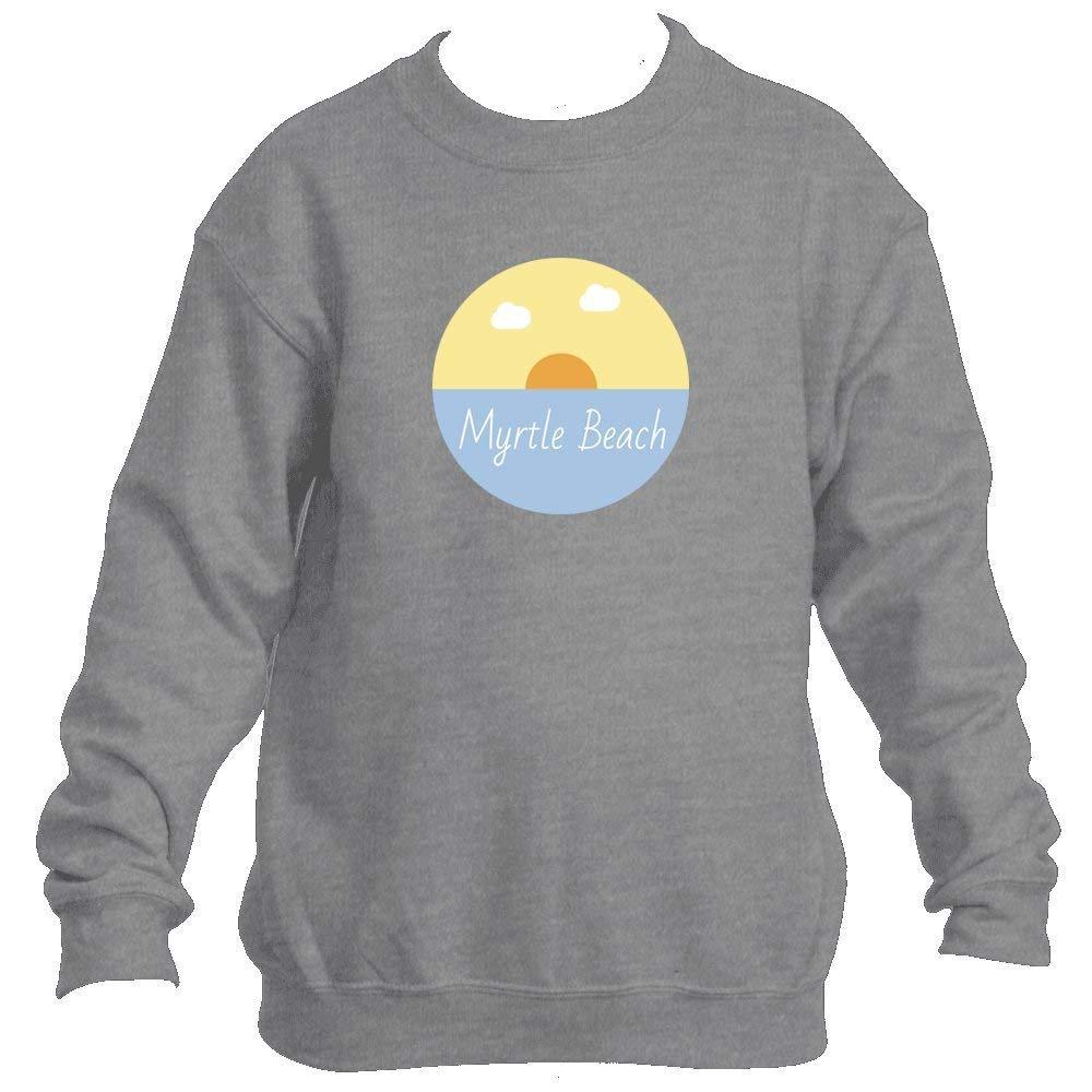 Myrtle Beach Ocean Sunset - South Carolina Youth Fleece Crew Sweatshirt - Unisex