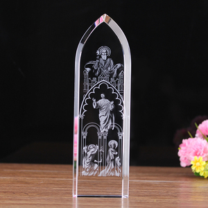 3d printing in glass cube catholic religious crystal showpieces