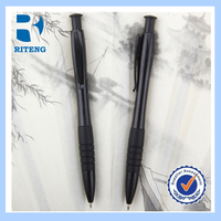 Matte Black Promotional Logo Novelty Plastic Pen ---RTPP0017