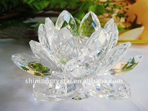 Exquisite crystal lotus,crystal glass lotus wedding decoration