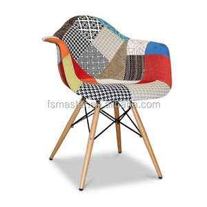Modern design simple dining room furniture wood leg patchwork chair