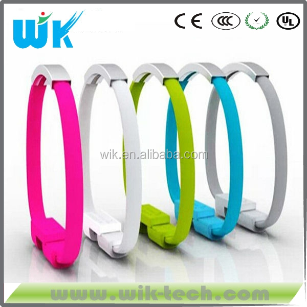 New tech No need MFI the best bracelet usb cable for iphone 5