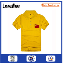 China factory-made custom cotton short sleeved wholesale yellow silk screen print tshirt