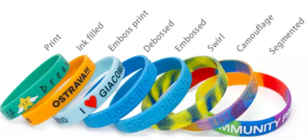 OEM factory made cool funny magnetic silicone wristband