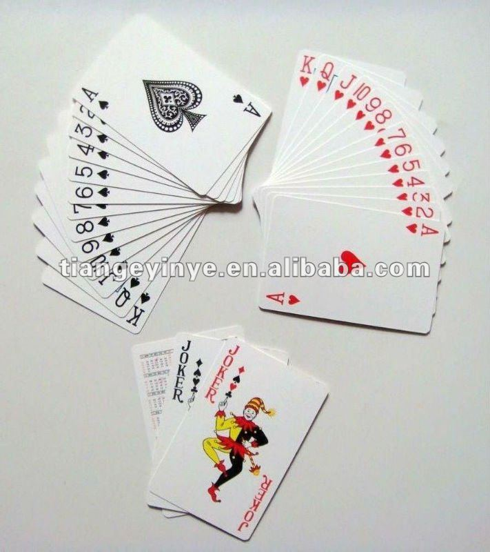 53 pcs playing cards in one pack