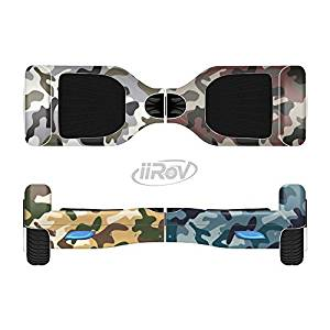 The Vibrant Colored Traditional Camouflage Full-Body Wrap Skin Kit for the iiRov HoverBoards and other Scooter (HOVERBOARD NOT INCLUDED)