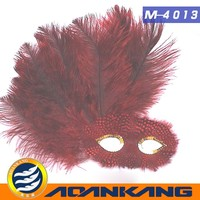 beautiful ostrich feather mask ---China supplier
