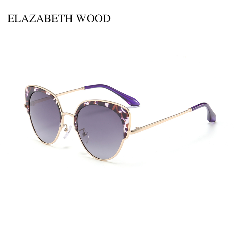 Custom CatEye Purple Leopard women Sunglasses for Party