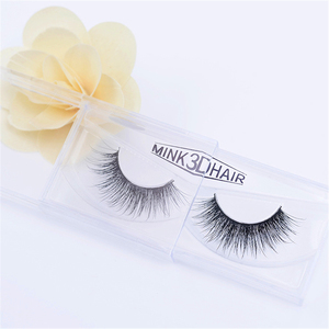 Wholesale glamorous clear band mink 3d hair eyelash with private label
