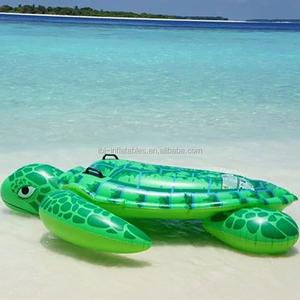 Sea Turtle Ride-On Inflatable Swimming Pool Float