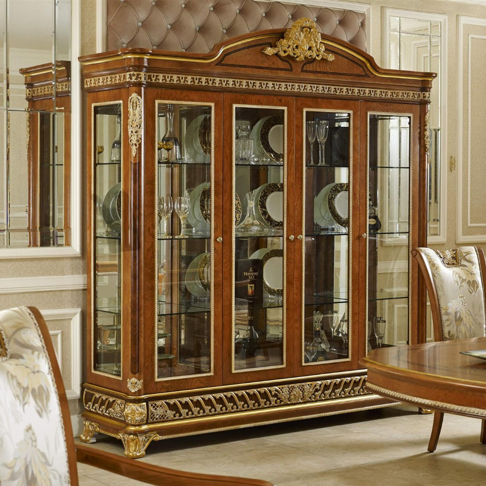 Yb62 Lujo Antiguo Sal N Real Aparador Cl Sico Vino Decorado  # Muebles Postmodernos