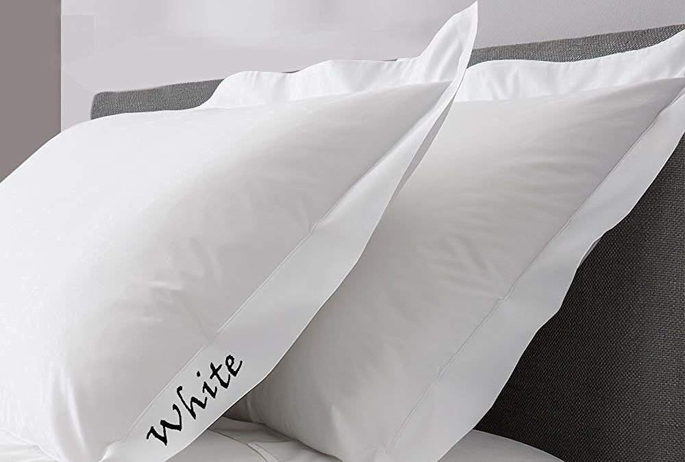 "Bed-Bucket 400TC 100% Natural Cotton Soft & Silky Pure Long-Staple Cotton White Solid King 20x30 Inch Pillow Sham Set of 2pcs (King White Pillow Cover- 20""x30"" Inch)"