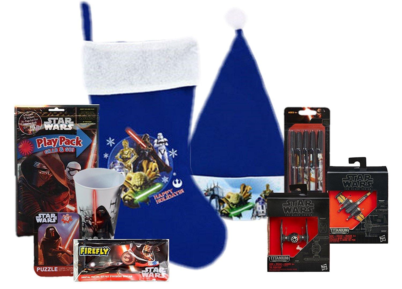 Star Wars Complete Stocking Bundle: Stocking, Cap, Toys, Games & More
