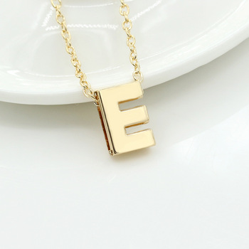 Fashion letter pendant necklace initial necklace 18k gold chain fashion letter pendant necklace initial necklace 18k gold chain alphabet collar necklace women copper wedding jewelry aloadofball Images