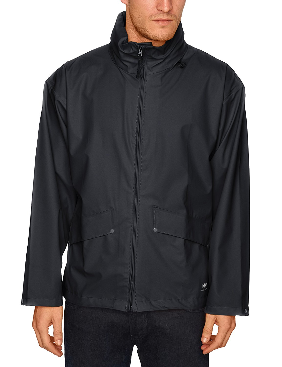 Helly Hansen Men's Voss Windproof Waterproof Rain Coat Jacket with Stowable Hood