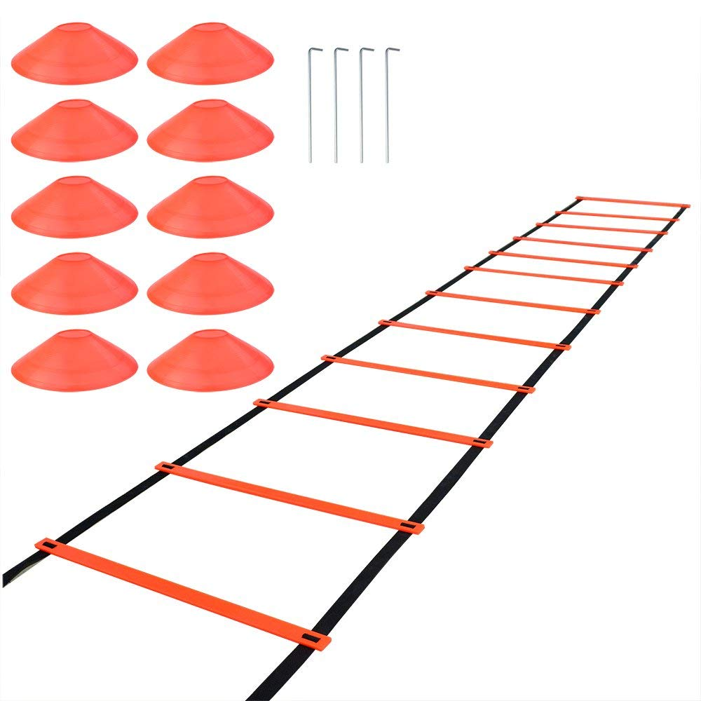 c3f208872 Get Quotations · SUMERSHA Agility Ladder Speed Training Equipment Fitness  Exercise Ladder for Soccer Football Basketball 20 Feet 12