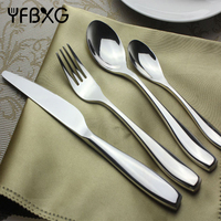 hotel restaurant set cutlery stainless steel spoon and fork cutlery set stainless steel cutlery