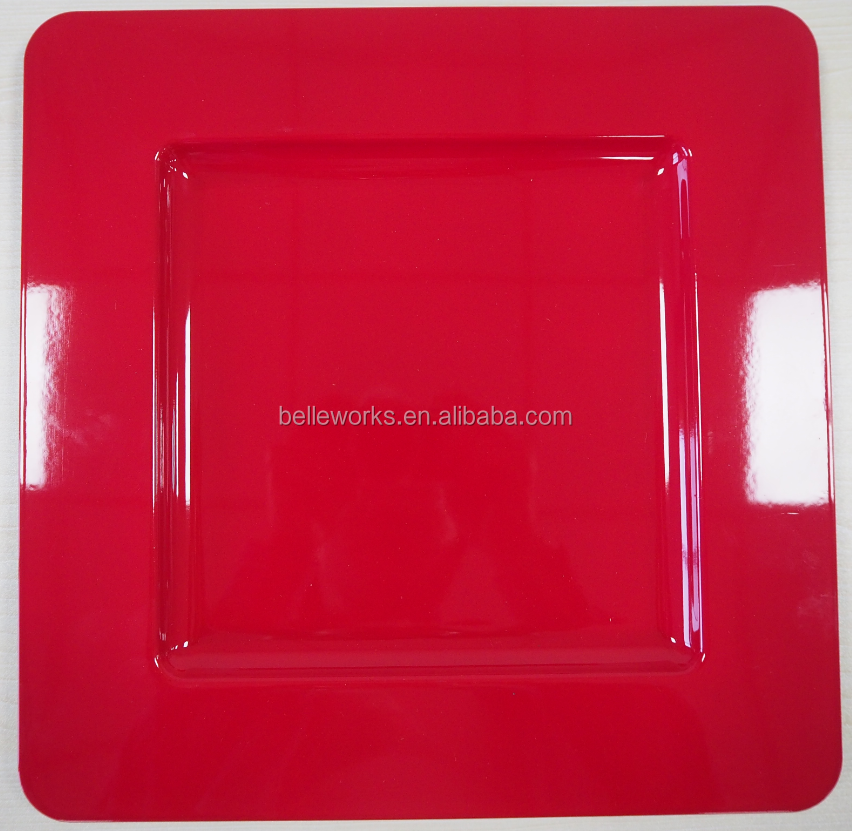 Red Square Charger Plate, Red Square Charger Plate Suppliers and ...
