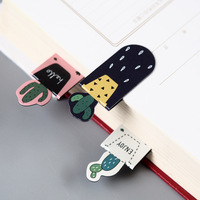 Factory Cute Cactus Sakura Magnetic Bookmarks of Page Student Stationery School Office Supply Paper Bookmark