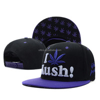 2015 high quality wool acrylic fabric with customized 3D embroidery 6 panel I Love snapback hat