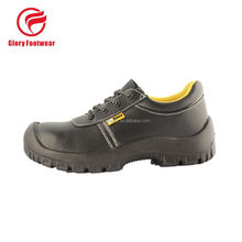 action safety shoe with black genuine leather