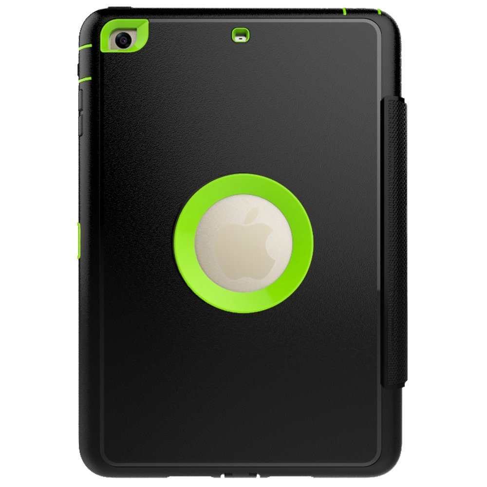 ipad mini case, ipad mini 2 case, Retina display, Acctrend hero series ipad mini 3 case with smart stand and Auto sleep wake function (black,green)