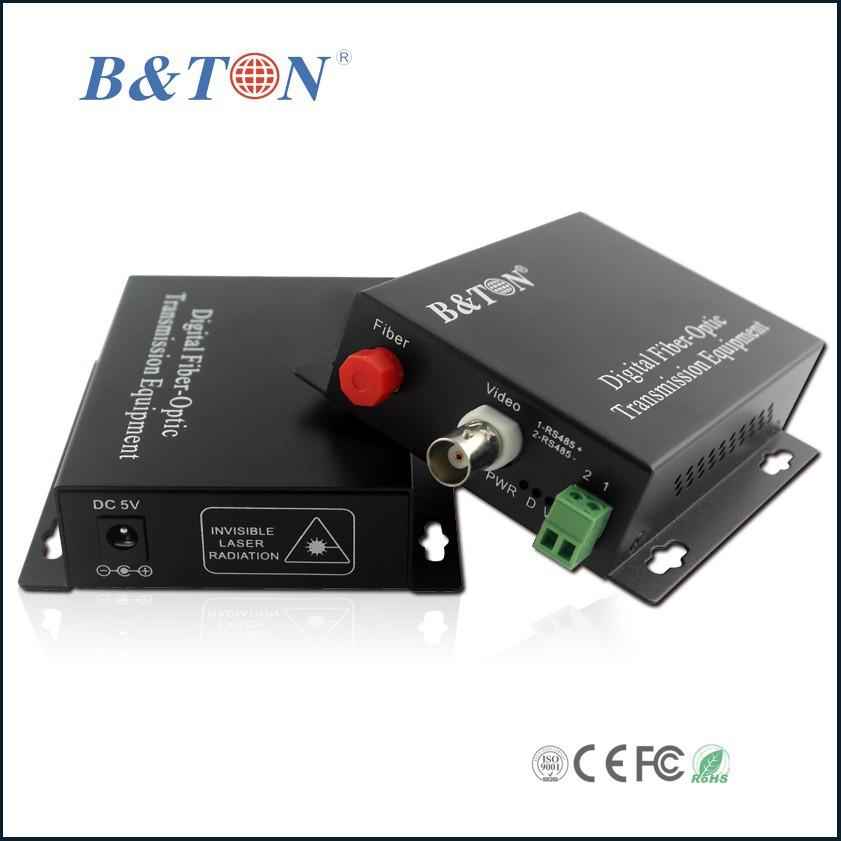 Cctv Security Surveillance 1ch Video Audio Over Fiber Converter ...